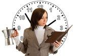 Vrouw onder tijdsdruk — Stockfoto