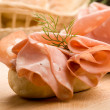 Sandwich with Mortadella — Stock Photo