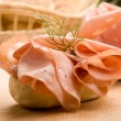 Sandwich with Mortadella - Stock Photo