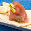 Tuna Sandwich Appetizer — Stock Photo