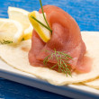 Stock Photo: Tuna Sandwich Appetizer