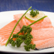 Foto Stock: Salmon fillet with lime