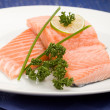 filetto di salmone con calce — Foto Stock