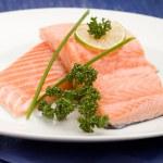 Filete de salmón con cal — Foto de Stock