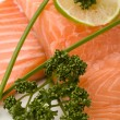 Salmon fillet with lime — Stock Photo