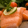 Foto Stock: Salmon fillet