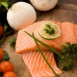 Salmon fillet - Stock Photo