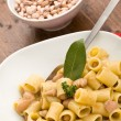 Pasta with beans - Stock Photo