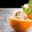 Orange and Ice Cream - Dessert — Stock Photo