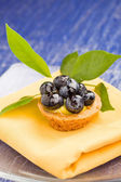 Pastries with blueberries — Stock Photo