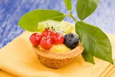 Pastires with blueberries and currants — Stock Photo