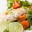 Grilled Chicken breast with salad — Stok fotoğraf