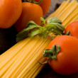 Ingredients for pasta with tomatoe sauce — Foto Stock