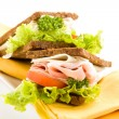 Cheese and Ham Sandwich 2 — Stock Photo