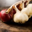 Onion and Garlic — Stockfoto