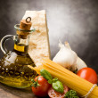 Stock Photo: Ingredients for ItaliPast2