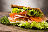 Sandwich with bacon — Stock Photo