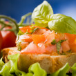 Bruschetta - Appetizer - Stock Photo