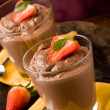Chocolate Mousse - Pudding — Stock Photo