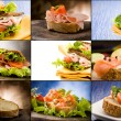 Sandwiches - Collage — Foto de Stock