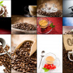 collage di caffè — Foto Stock