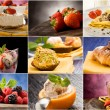 dessert - collage — Foto Stock