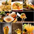 Pasta Collage — Stock fotografie