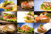 Sandwiches - Collage — Stock Photo