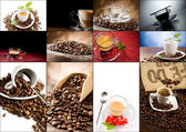 Koffie collage — Stockfoto
