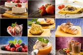 Dessert - collage — Stockfoto