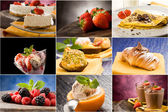 Postre - collage — Foto de Stock