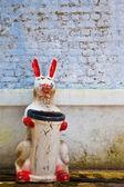 Rabbit Shaped Trash Can — Stock Photo