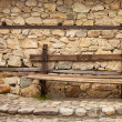 Village Bench — Stock Photo