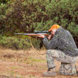 Hunter Aiming — Foto de Stock