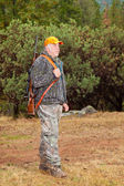 Older Man Ready to Go Hunting — Stockfoto