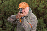 Hunter Taking Aim — Stockfoto