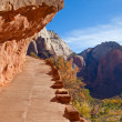 Hiking Trail in Zion — Stock Photo