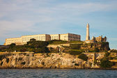 Alcatraz Prison and Lighthouse — Foto de Stock