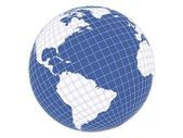 おりに入れられた地球 — ストック写真