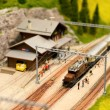 Stock Photo: Alpine railroad