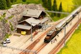 Ferrocarril alpino — Foto de Stock