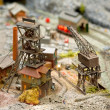 Model coal mine — Stock Photo