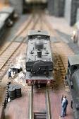 Model steam train — Stock Photo
