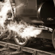 Vintage steam train — Stockfoto
