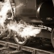 Vintage steam train - Stockfoto