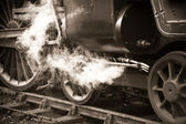 Vintage steam train — 图库照片