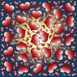 Valentine's day hearts background - Foto de Stock