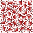 Valentine's day hearts background - Foto Stock