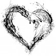 Abstract Valentine heart - Foto Stock