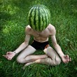 Watermelon meditation - Foto de Stock
